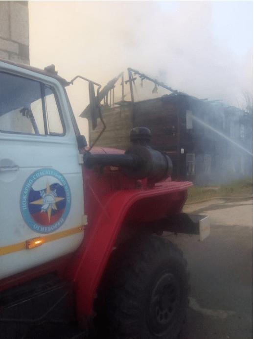 Участие в тушении пожара в жилом доме в поселке Карпушиха