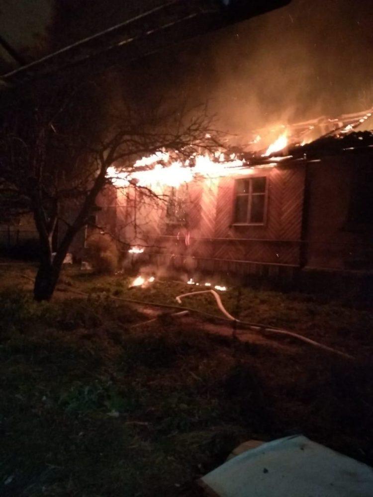 Участие в тушении пожара в частном жилом доме