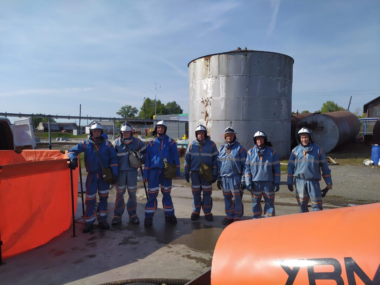 Тактико-специальные учения на нефтебазе АО «Газпромнефть – Терминал» в г. Серов