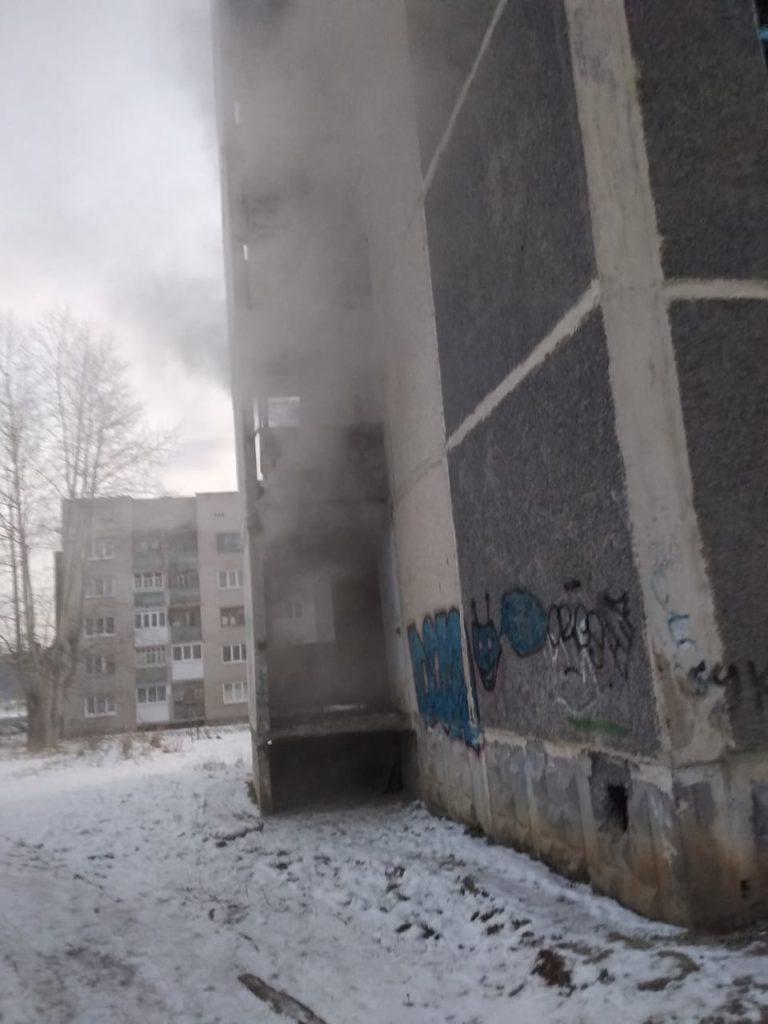 Участие в тушении пожара в квартире жилого дома