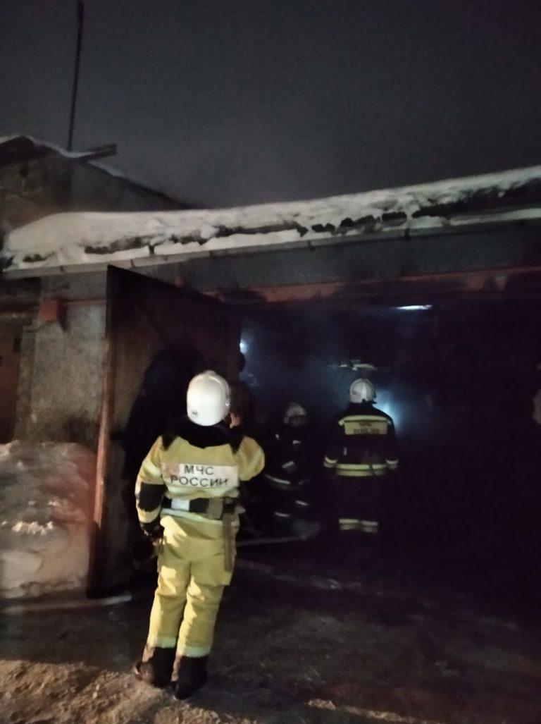 Тушение пожара в гараже