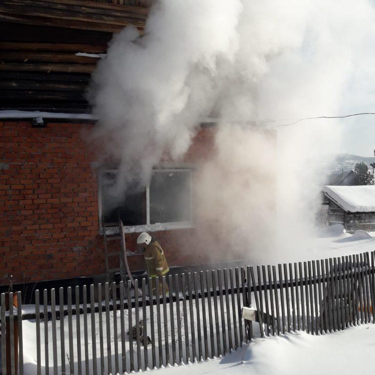 Тушение пожара в частном жилом доме